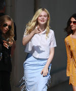 Elle Fanning outside JImmy Kimmel Live in Hollywood 05/21/14