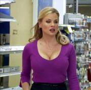 "Jessica Collins - It's Always Sunny in Philadelphia - Season 7 ""The Storm of the Century"" as Big breasted news reporter Jackie Denardo"