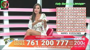Kelly Baron sensual no concurso 1000 à hora