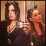 Liz Gillies & Ariana Grande - cute cats